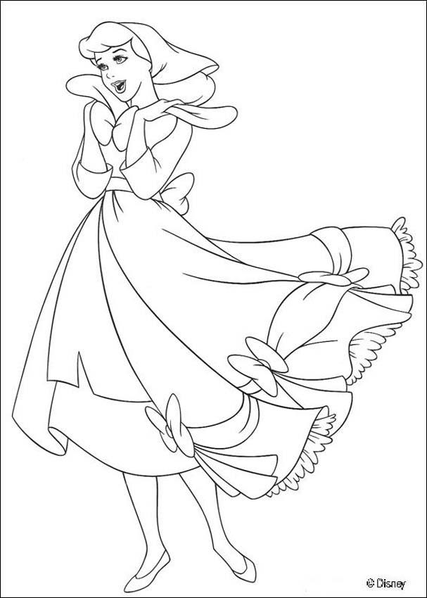 607x850 Cinderella Singing Coloring Pages
