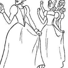 220x220 Cinderella With The Fairy Godmother Coloring Pages