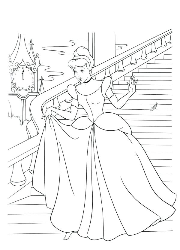 600x832 Disney Cinderella Coloring Pages And Fairy Godmother Coloring Page
