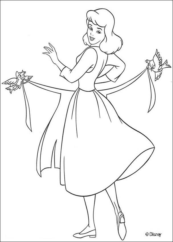 607x850 Fairy Godmother And The Pumpkin Coloring Pages