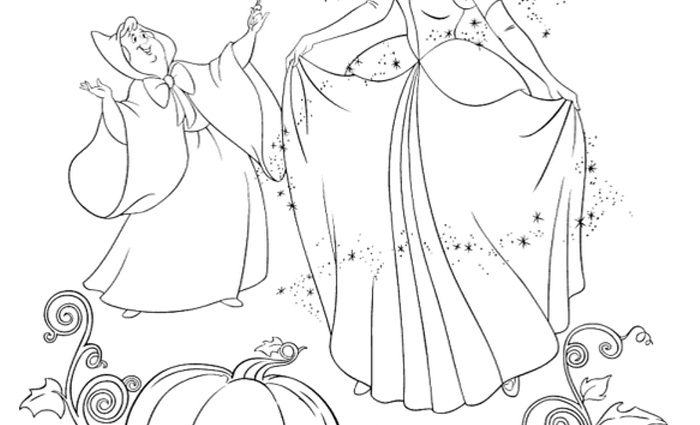 700x425 Cinderella Fairy Godmother Coloring Pages Cinderella Godmother