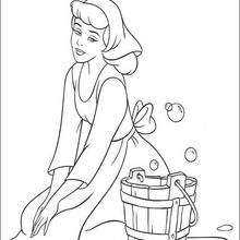 220x220 Cinderella Trying The Glass Slipper Coloring Pages