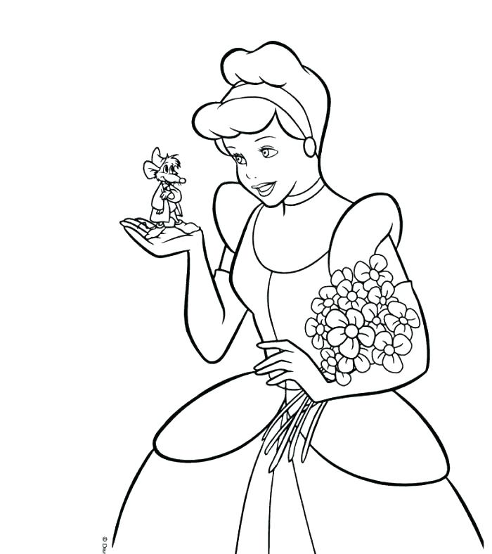 700x788 Coloring Page Cinderella Coloring Pages In Addition To And Mice