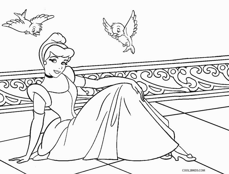 800x608 Free Printable Cinderella Coloring Pages For Kids