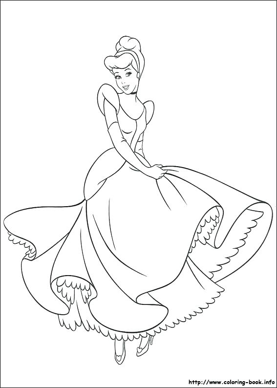 567x794 Glass Slipper Coloring Page Coloring Pages Coloring Picture