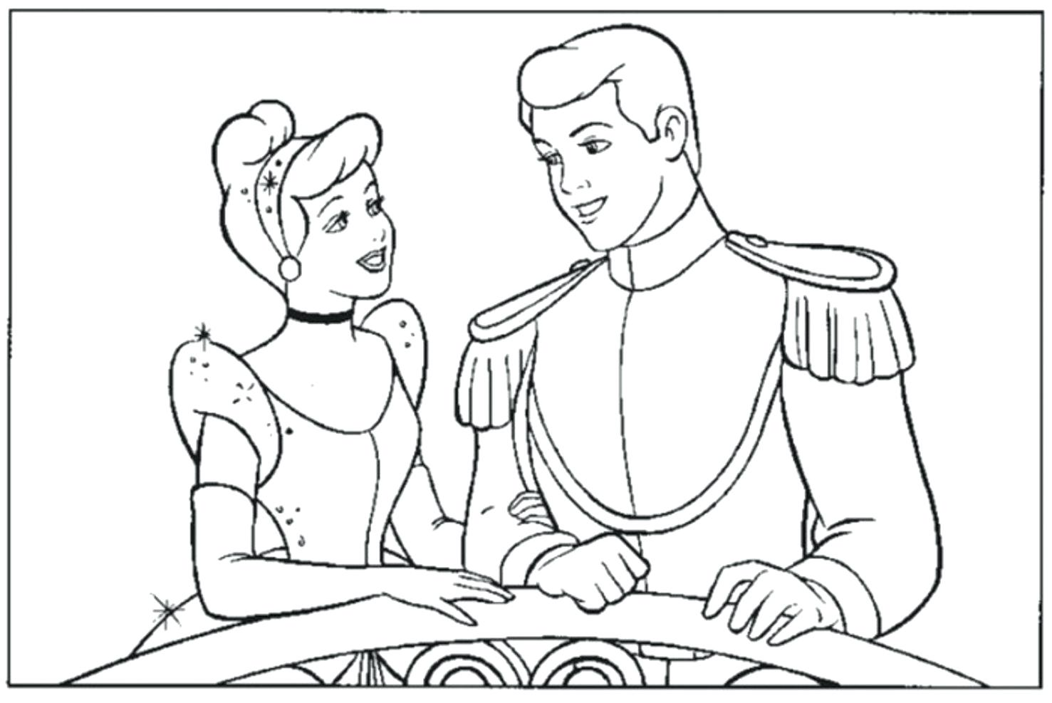 1477x987 Necklace Glass Slipper Cinderella Trying In Coloring Page Zoom