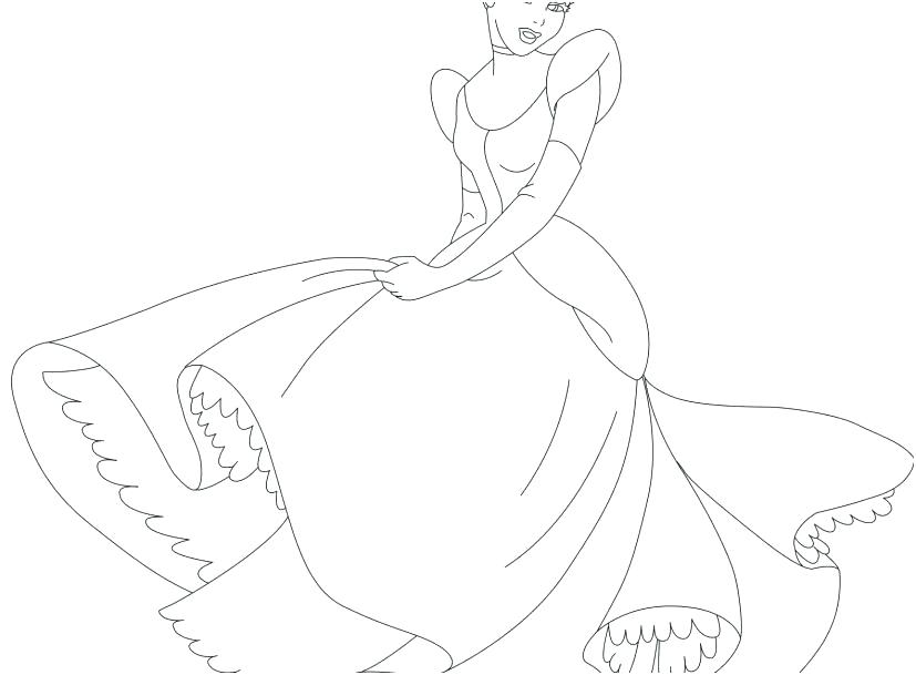 827x609 Cinderella Coloring Pages Free Glass Slipper Coloring Sheet