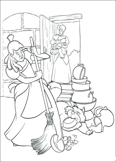 374x525 Cinderella Mice Coloring Pages Coloring Pages The Great Mouse