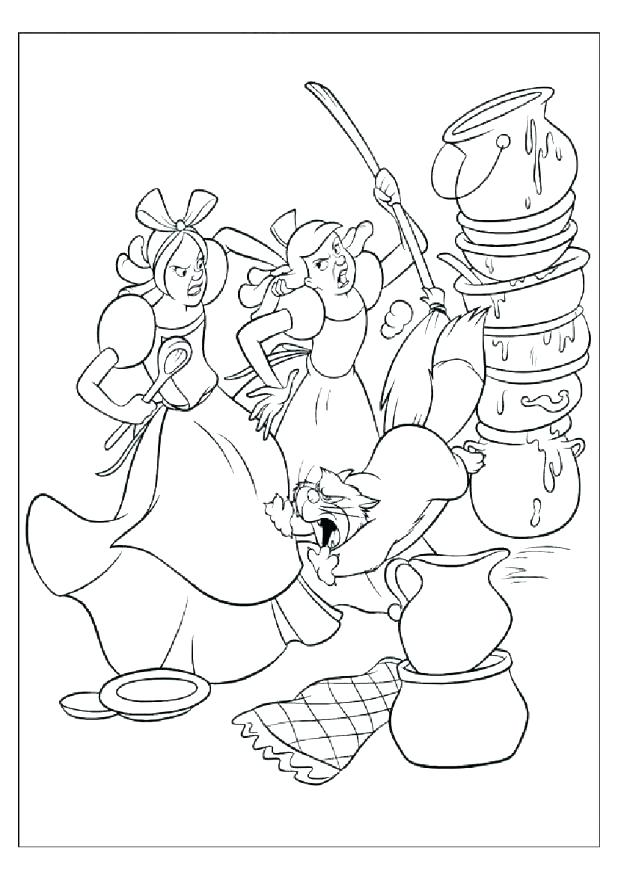 618x875 Cinderella Mice Coloring Pages Mice Coloring Pages Colouring