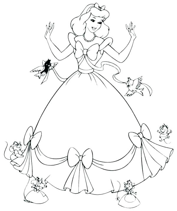 600x715 Images Coloring Pages Cinderella Coloring Pages