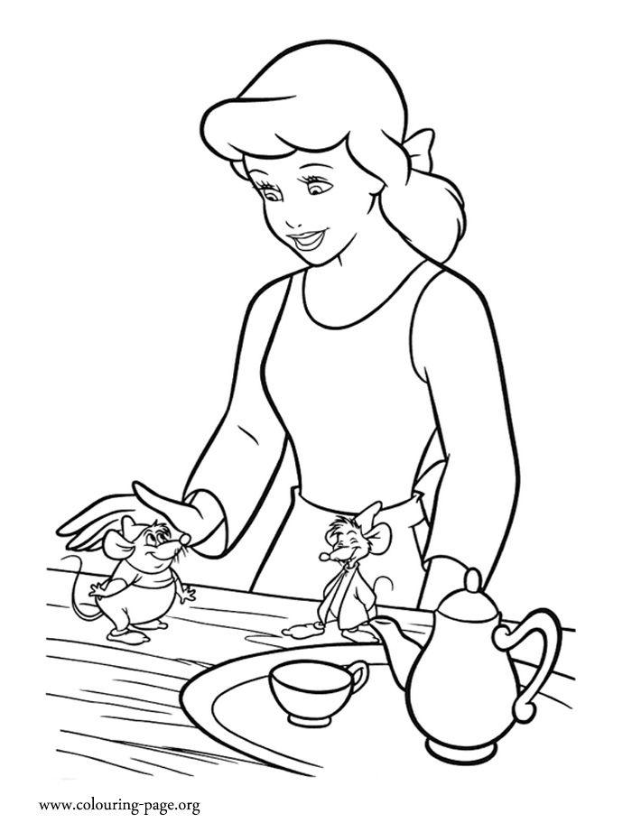 700x922 Cinderella Jaq Mary Coloring Pages Cinderella Mice And Birds Clip
