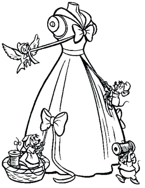 500x648 Cinderella Mice Coloring Pages Cinderella Mouse Coloring Pages