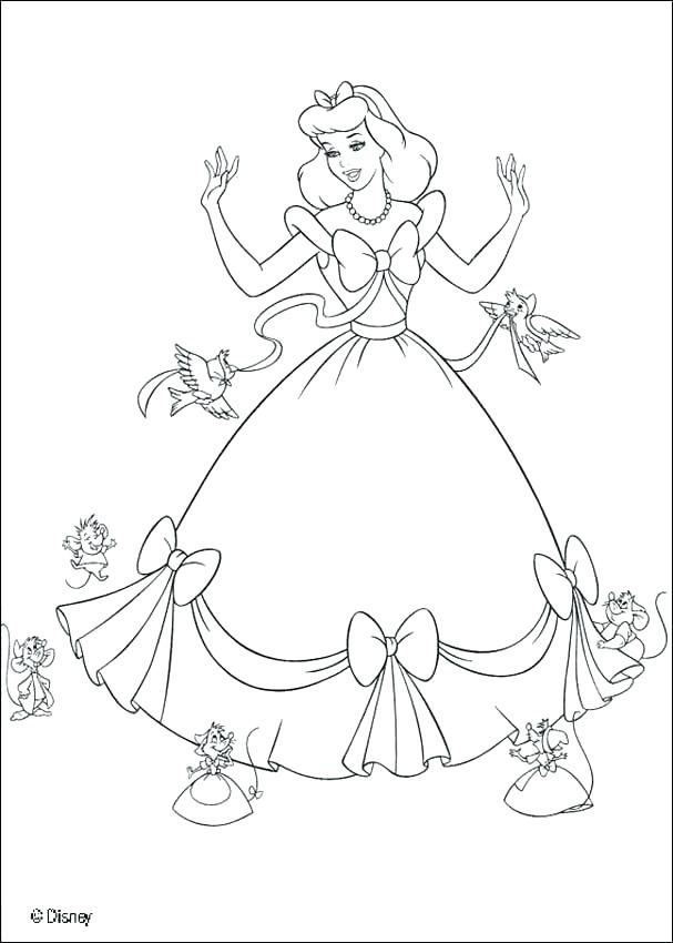 607x850 Cinderella Mice Coloring Pages Coloring Pages Step Mother