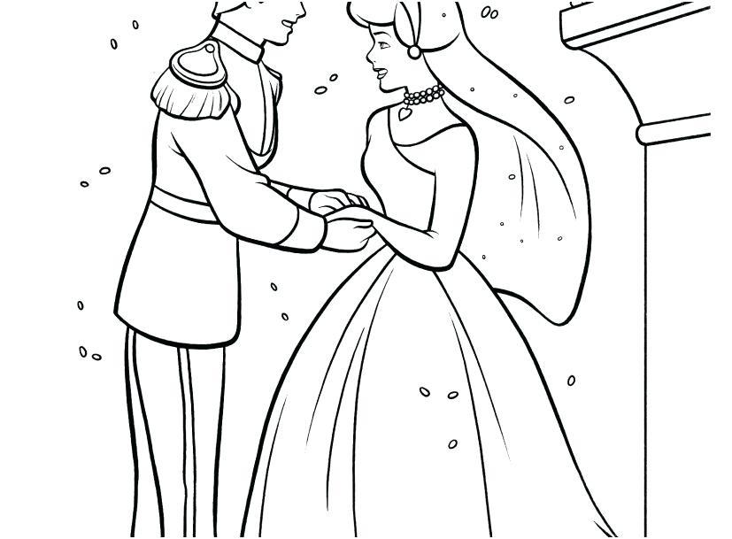 827x609 Cinderella Color Pages
