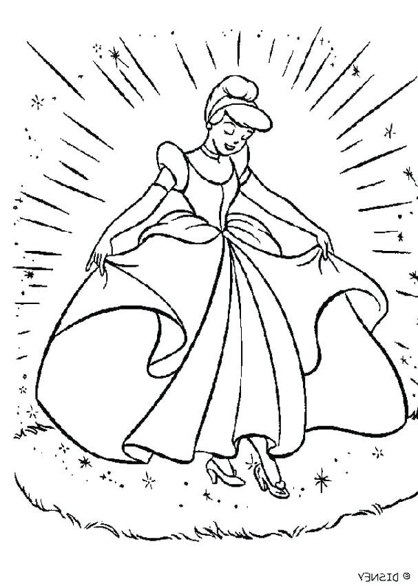 607x850 Glass Slipper Coloring Page Glass Slipper Colouring Pages Page
