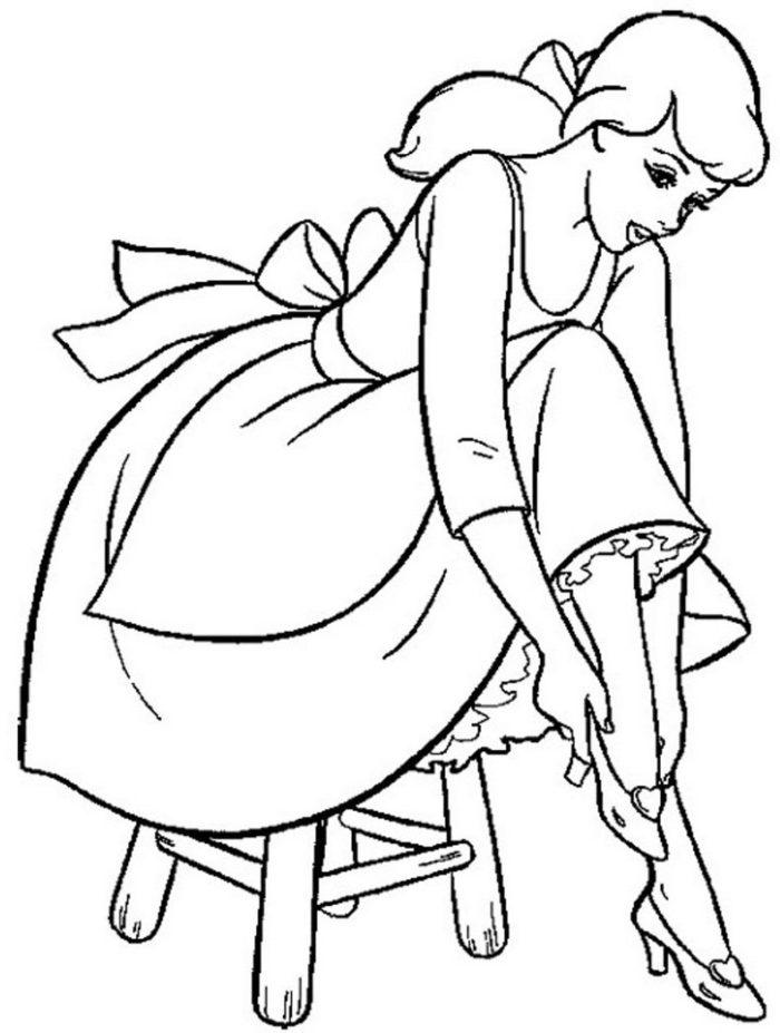 700x927 Cinderella The Cinderella Princess Coloring Pages Free, Cinderella