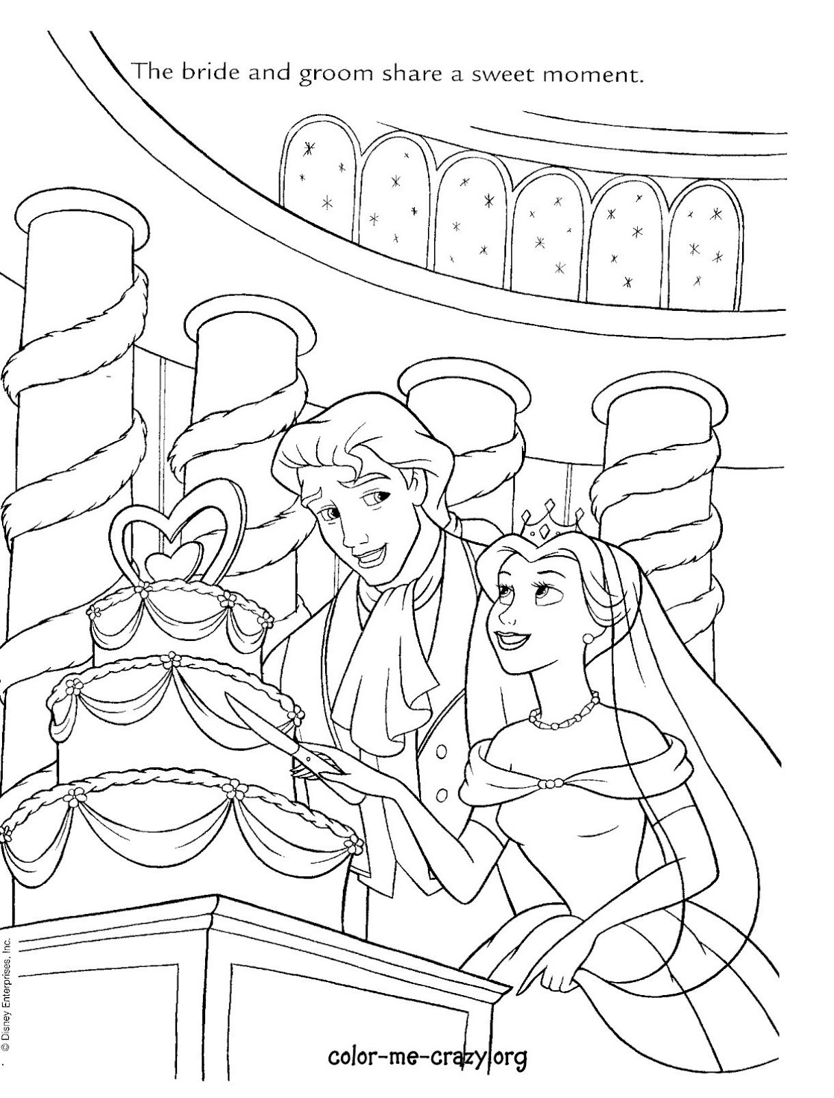 Cinderella Wedding Coloring Pages At Getdrawings Com Free For