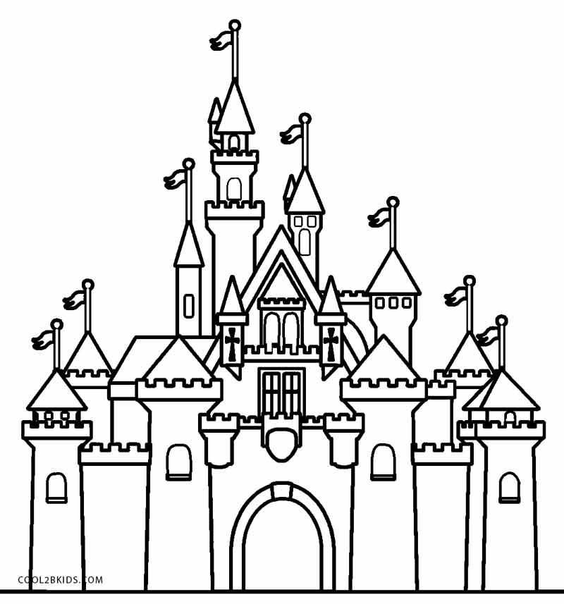 Cinderellas Castle Coloring Page