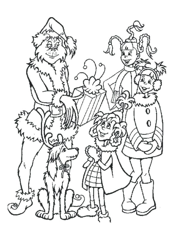 680x879 Cindy Lou Who Coloring Pages Kids Coloring Gives Out Gifts
