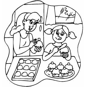 300x300 In The Kitchen Coloring Pages
