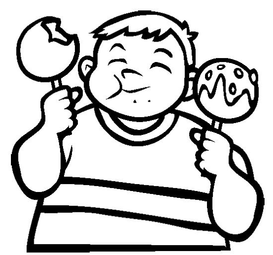 550x514 Candy Apple Coloring Page Cookie Candy Apples