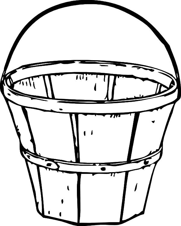 600x751 Traditional Wooden Bucket Coloring Pages Best Place To Color