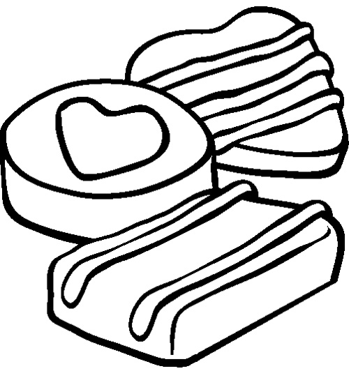 500x532 Chocolate Chip Cookie Coloring Page Coloring Pages
