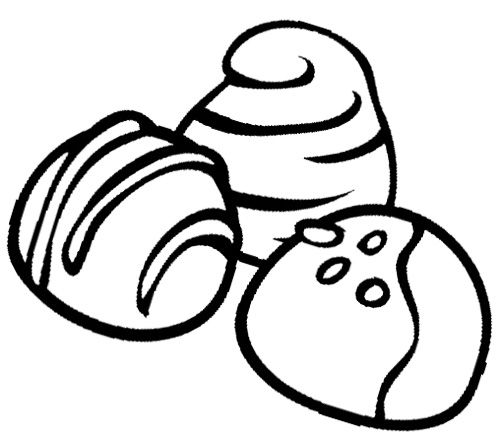 500x439 Chocolate Truffles Cookie Coloring Page Cookie