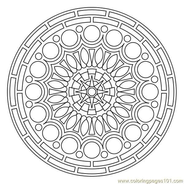 600x600 Circle Pattern Coloring Page