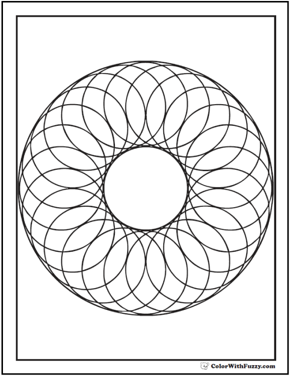 590x762 Geometric Shapes Coloring Pages Circle Of Circles