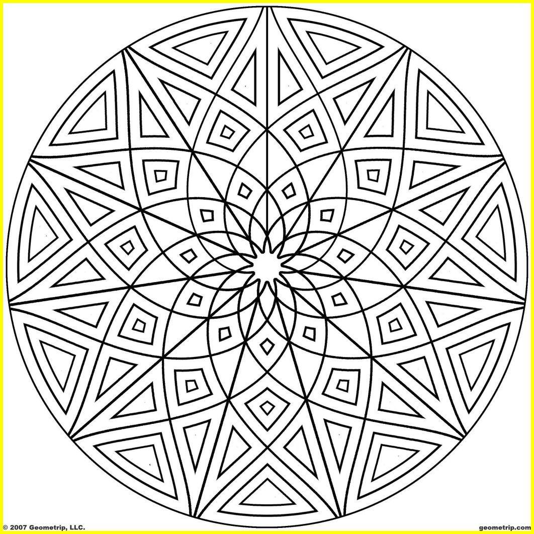 1062x1062 Inspiring Kaleidoscope Coloring Pages Geometrip Geometric