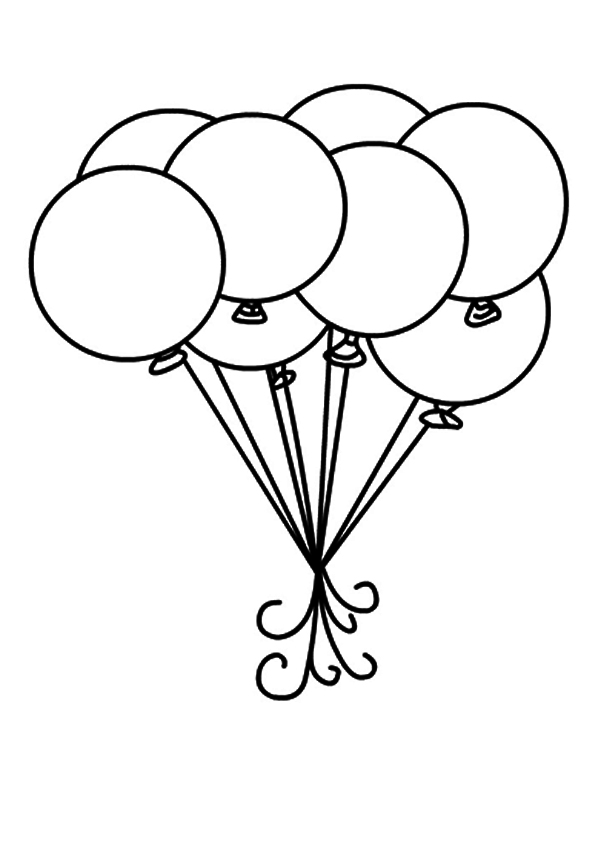 595x842 The Balloons And Circle For Coloring Book