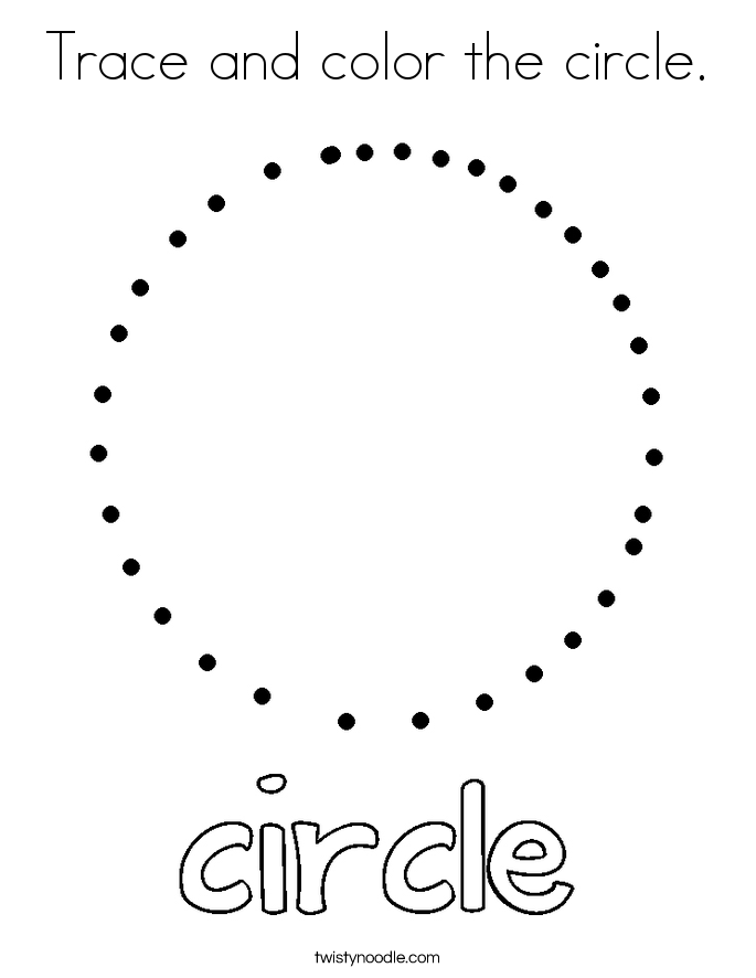 685x886 Trace And Color The Circle Coloring Page