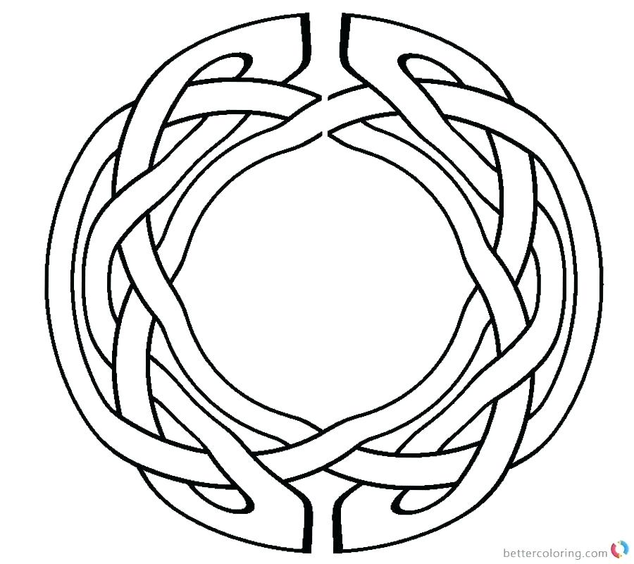 900x800 Celtic Knot Coloring Pages