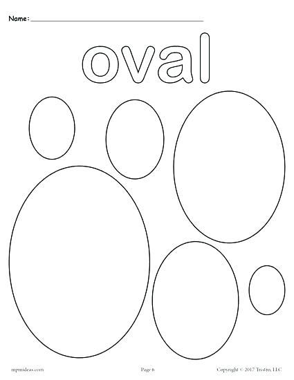 425x550 Circle Shape Coloring Page