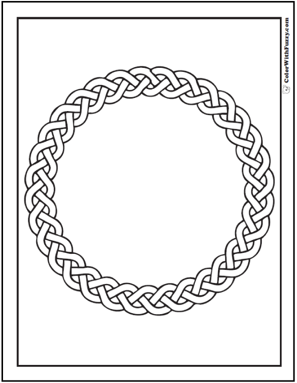 590x762 Celtic Designs Braided Circle Celtic Coloring Page