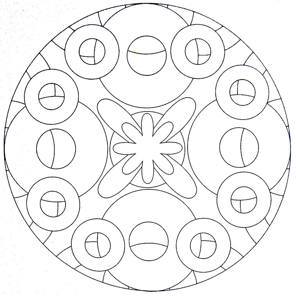 1024x1024 Circle Coloring Page