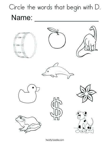 468x605 Circle Coloring Pages Circle The Words That Begin With D Coloring