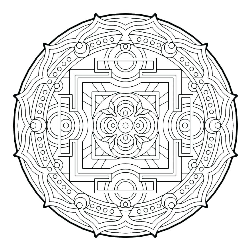 878x878 Geometric Shapes Coloring Pages Circles Coloring Pages Circle