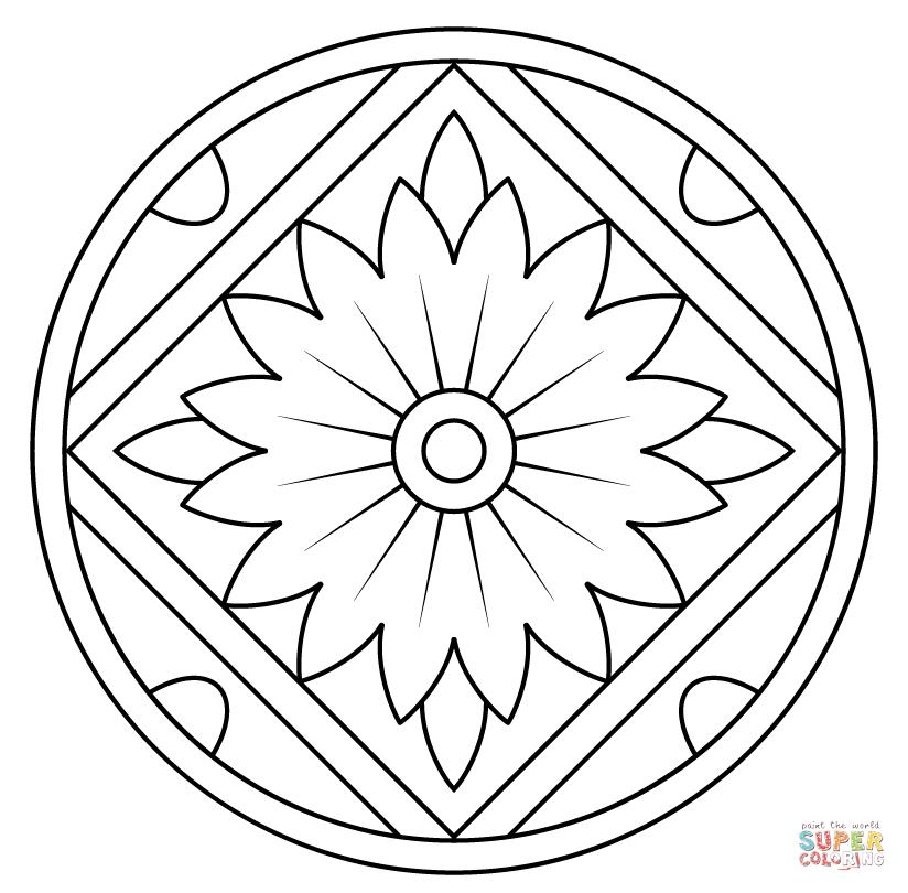 824x810 Mandala Pattern Coloring Pages
