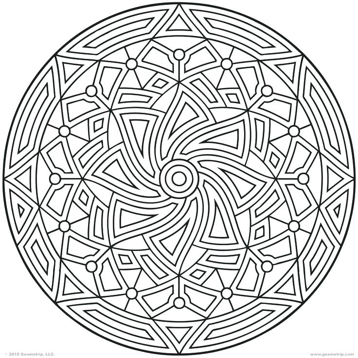 736x736 Pattern Coloring Pages Circle Pattern Coloring Pages