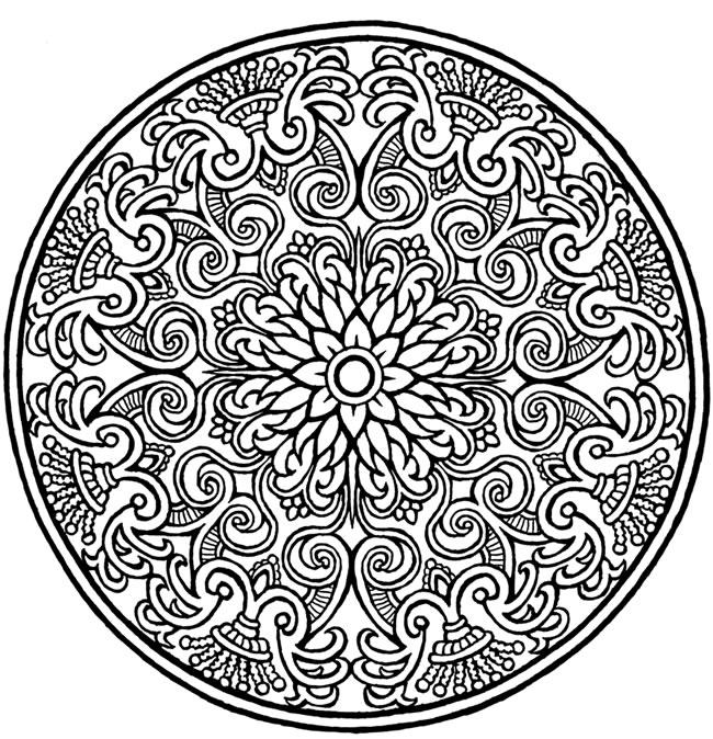 650x674 Skillful Design Coloring Pages Free Mandala Mandalas