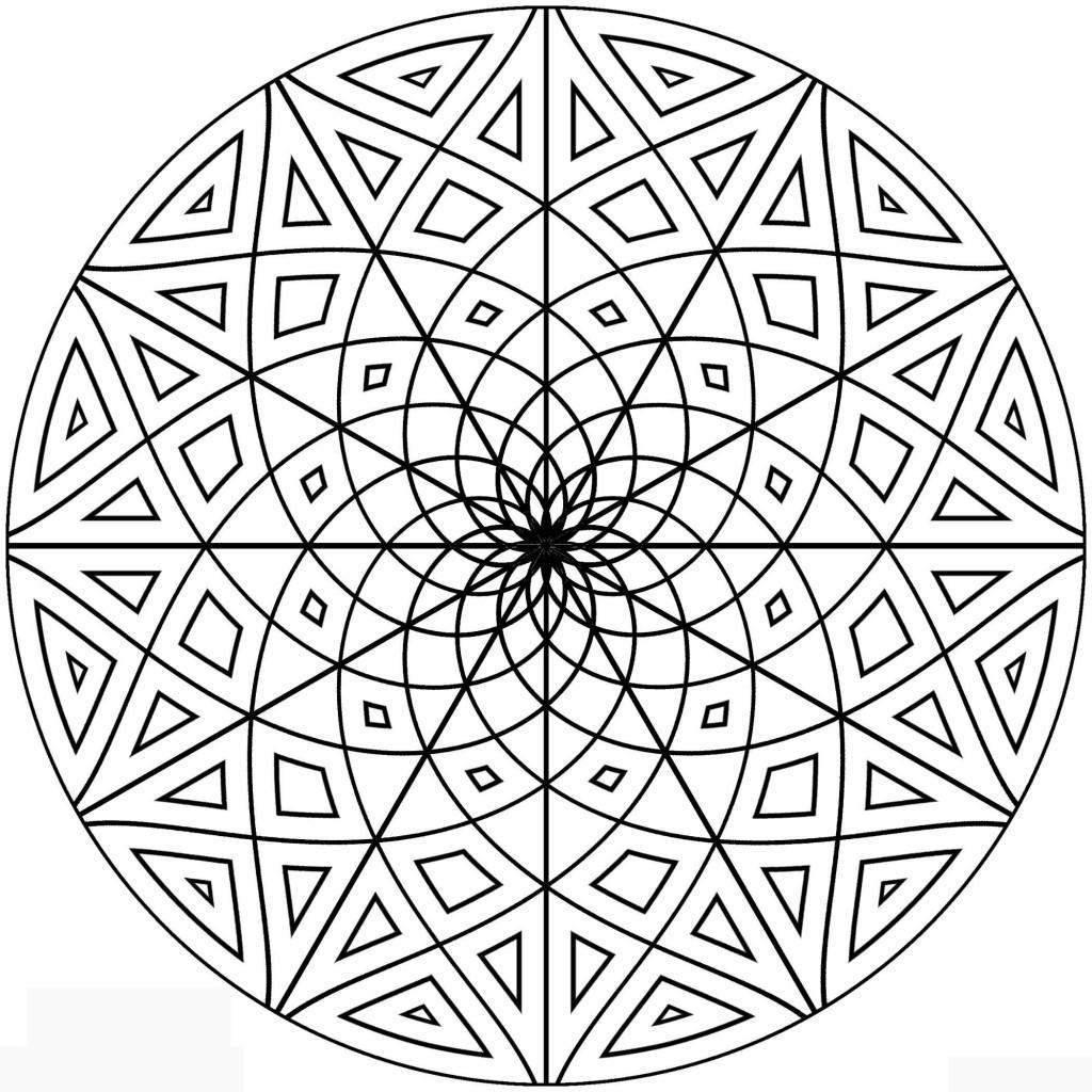 1024x1024 Circular Circular Patterns Colouring Pages Clock Face