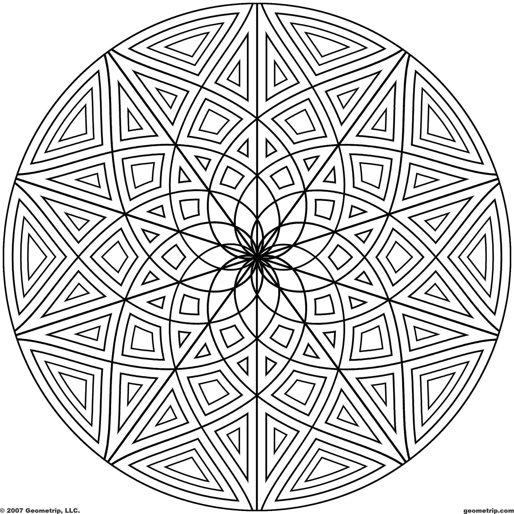 2100x2100 Circle Design Coloring Pages