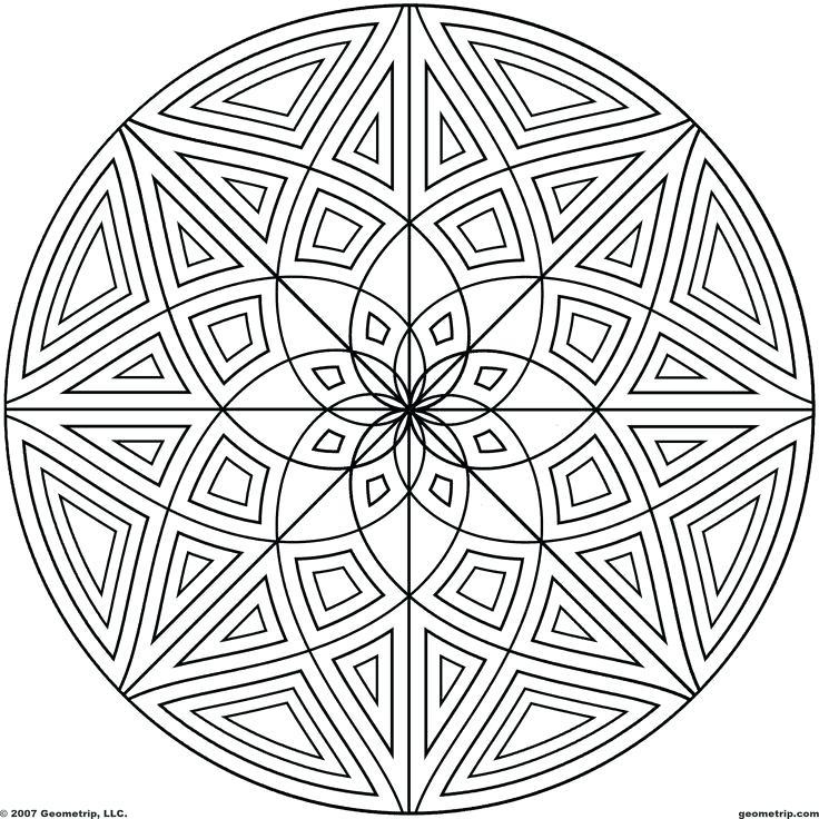 736x736 Circles Mandala Coloring Pages Batch Circle Design Murs