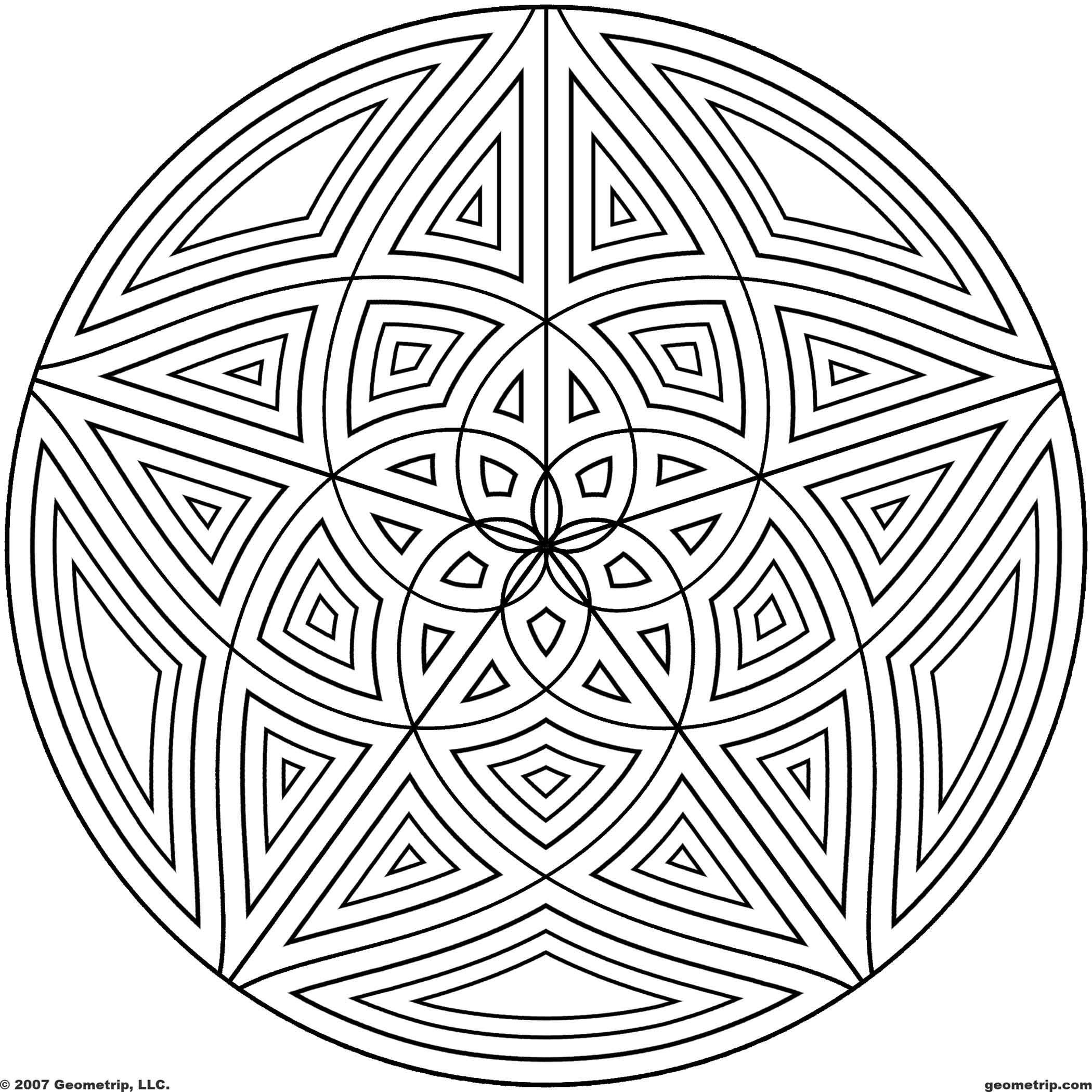 2100x2100 Coloring Pages Of Cool Designs Circles Page Of Coloring