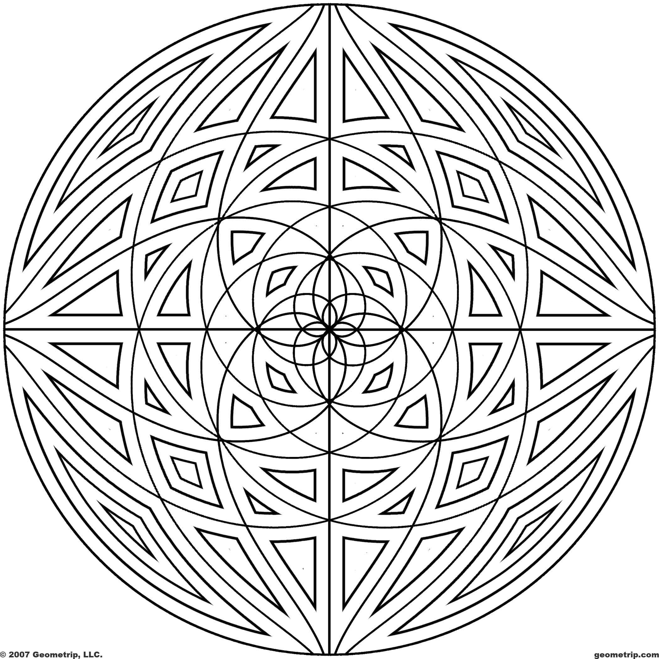 2100x2100 Detailed Coloring Pages For Adults