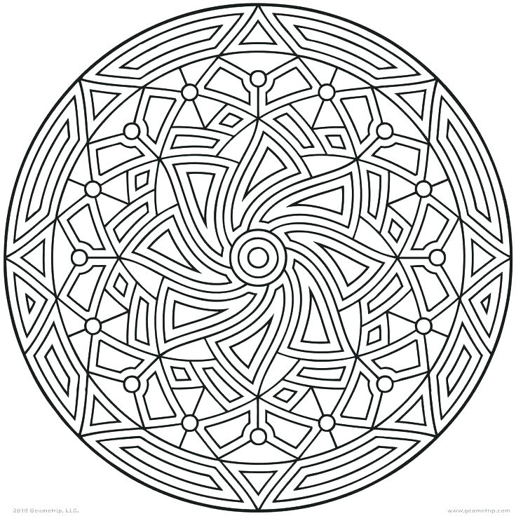 736x736 Geometric Stained Glass Patterns Pattern Coloring Pages Circle