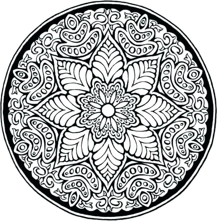 707x721 Mandala Pattern Coloring Pages