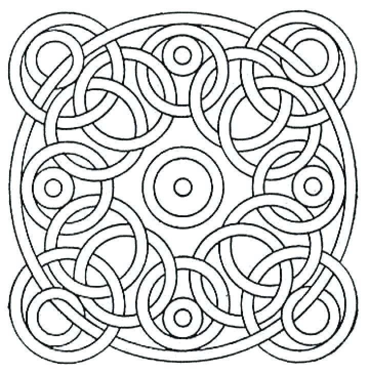 720x730 Pattern Coloring Page Circle Pattern Coloring Pages Pattern